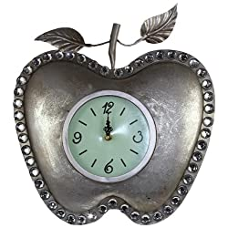 Essential Décor Entrada Collection Apple Shaped Metal Clock, 14 by 1.75 by 14.5-Inch