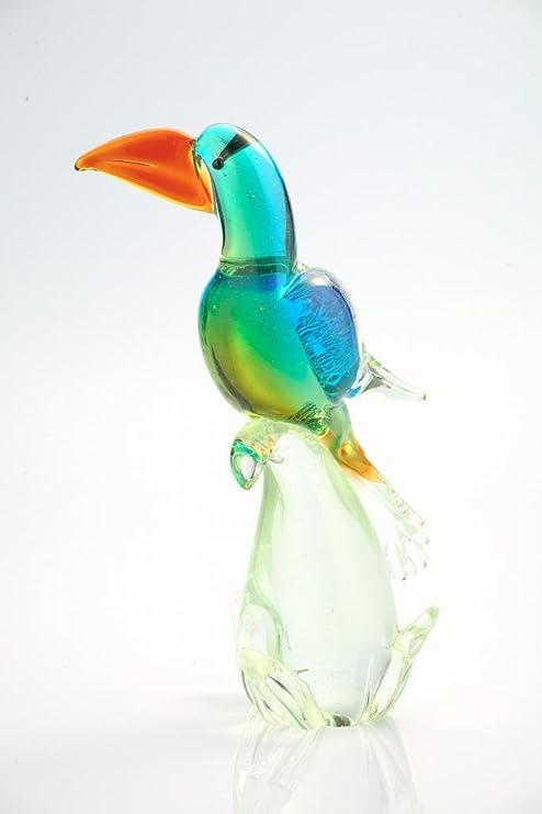 Parrot Animals Glass Sculpture Made Of Glass Handmade Blown Glass Figurine Art  Blown Glass Art Glass