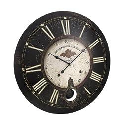 Things2Die4 23 Inch Diameter Kensington Station Pendulum Wall Clock