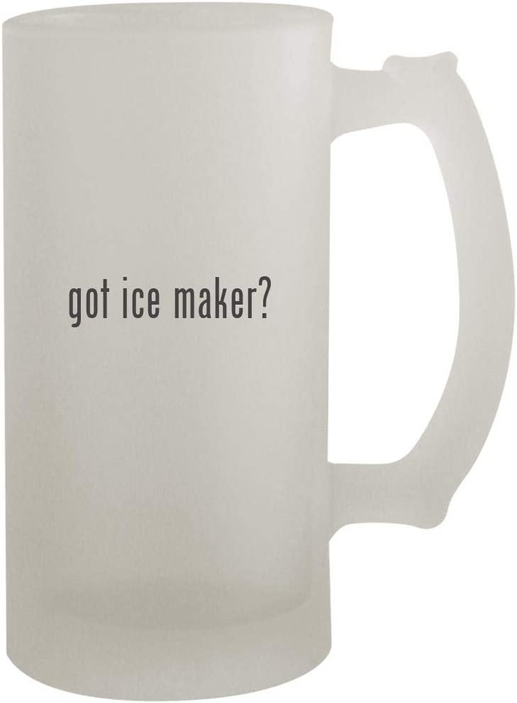 got ice maker? - 16oz Frosted Beer Mug Stein, Frosted
