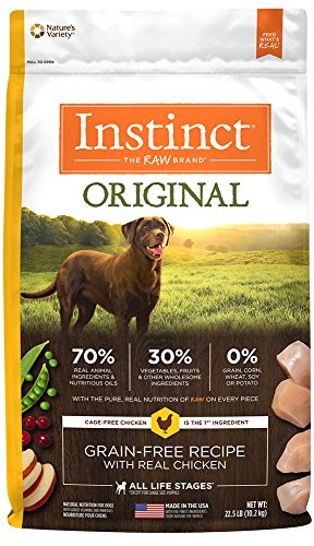 By Nature Chicken Dog Food (Instinct Original Grain Free Recipe with Real Chicken Natural Dry Dog Food by Nature's Variety, 22.5 lb. Bag)
