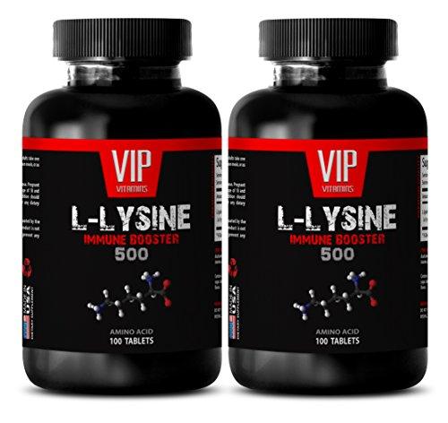 Lysine tabs - L-LYSINE IMMUNE BOOSTER 500 - Energy workout - 2 Bottles 200 tablets