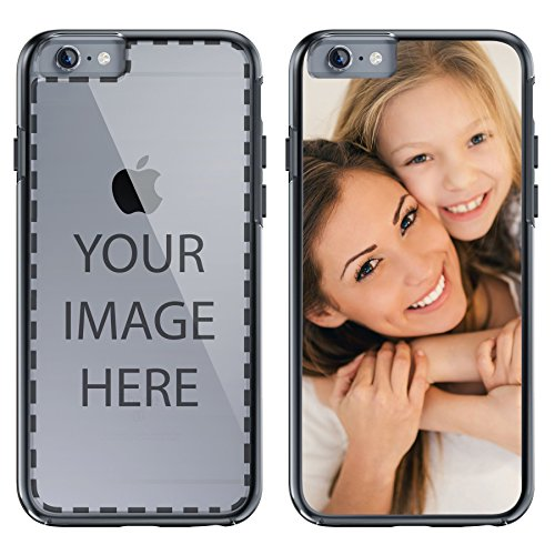 atible with iPhone 6s Custome Case, Personalized Custom Picture HD Printed on Slim Hybrid Bumper Cover by - Black Bumper ()