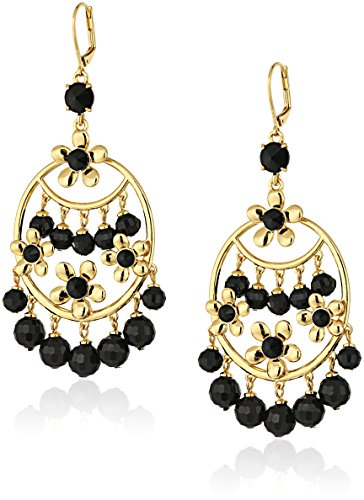 (kate spade new york Black Statement Earrings)