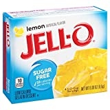 Jell-O Sugar-Free Lemon Gelatin Mix 0.3 Ounce Box (Pack of 6)