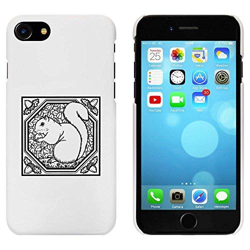 Blanc 'Motif d'Écureuil Carré' étui / housse pour iPhone 7 (MC00065462)