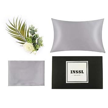 Amazon.com: INSSL Funda de almohada de seda para el pelo y ...