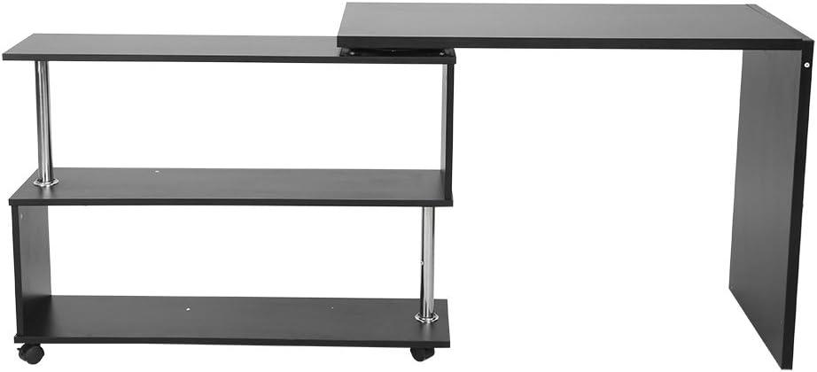GOTOTOP Bureau dangle rotatif /à 360 degr/és pour ordinateur avec /étag/ères