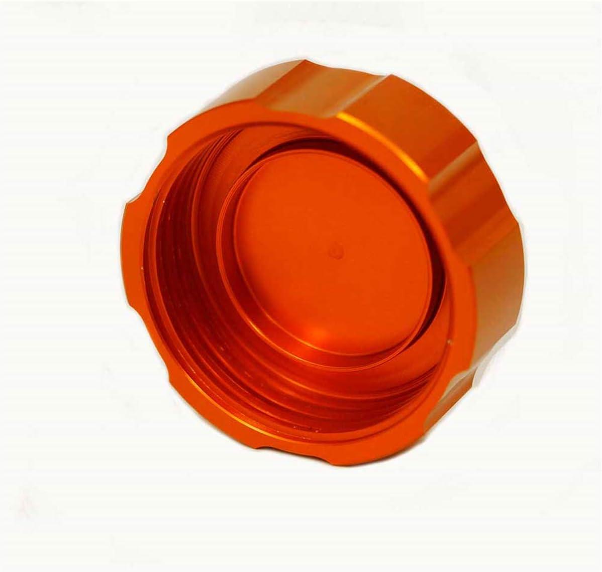 Hunter-Bike Rear Brake Fluid Reservoir Cap Brake Oil Cover for KTM DUKE 390 125 200 250 2013-2018 Orange