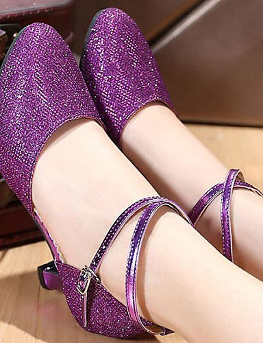 Purple ShangYi Red Silver Shoes Low Leatherette Womens Customizable Gold Purple Modern Dance Non Heel OwOpvqS