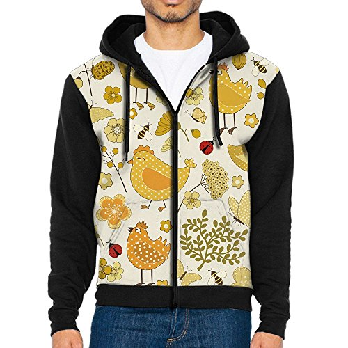 Yellow The Cock Men's Pullover Hooded Sweatshirt Supernatural Hoodies Long Sleeve - Usps On How Save Shipping To