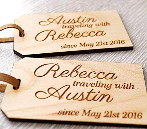 Personalized Luggage Tags Wedding Gift