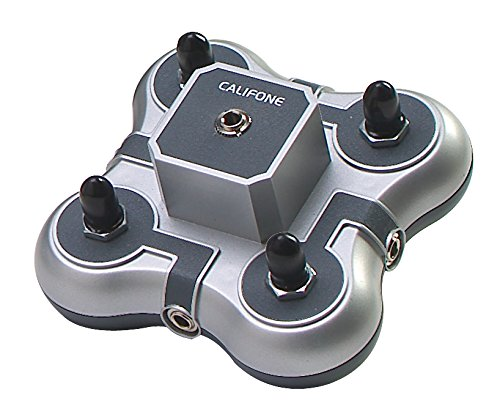 Califone 1114AVPS 4-Position Mini Stereo Jackbox with individual volume control to connect 4 Headphones with media players