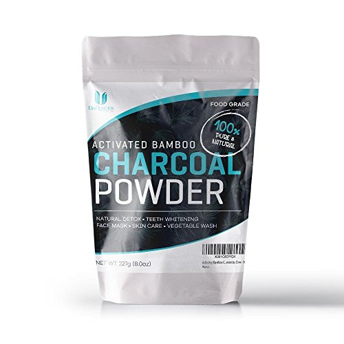 Activated Bamboo Charcoal Powder | 8 Ounces | 1/2 Pound. Food Grade Bamboo Charcoal Powder | Teeth Whitener, Face Mask, So Many Uses! by Zone - 365