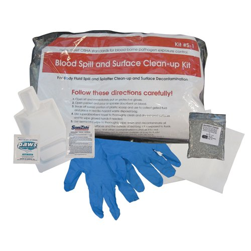 First Step Single Usage Blood Spill Clean-Up Kit 12 Kits per Case, ()