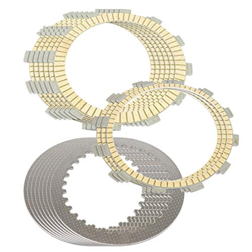 CALTRIC CLUTCH FRICTION and STEEL PLATES Fits YAMAHA XV1700PC Road Star Warrior 2002-2009 -  FP145*6+FP154*3+CP141*8/2