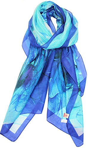 HTrends Womens Genuine Silk Scarf