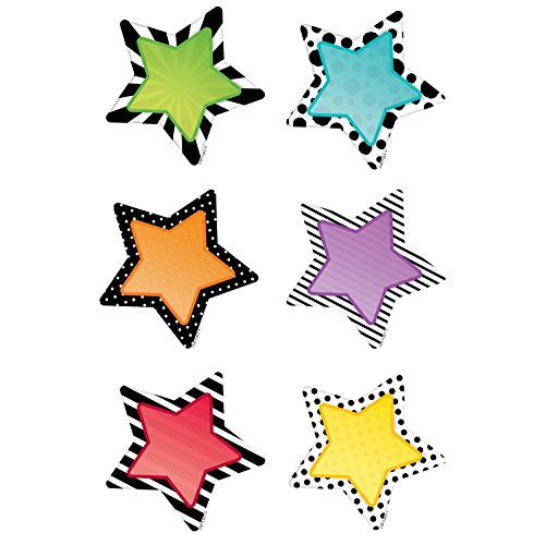 Cut Classroom Outs - Creative Teaching Press Bold & Bright Stars Cut Outs 3