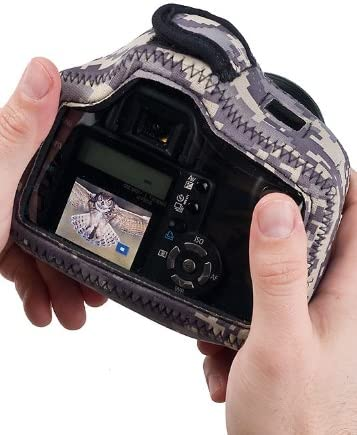 Clear Back LensCoat BodyGuard Compact CB  camouflage neoprene protection camera body bag case Forest Green Camo