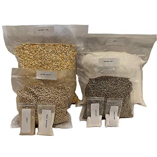 Complete Cracked Corn, Malted Barley & Rye Whiskey Mash & Fermentation Kit