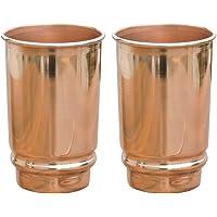 HealthGoodsIn - Pure Copper (99.74%) Tumbler Set of 2   Traveller's Copper Glass for Serving Water   350 Ml (11.8 US…