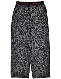 Big Boys Gray & Black Printed Flannel Pajama Pant