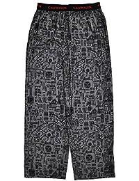 Big Boys Gray & Black Printed Flannel Pajama Pant