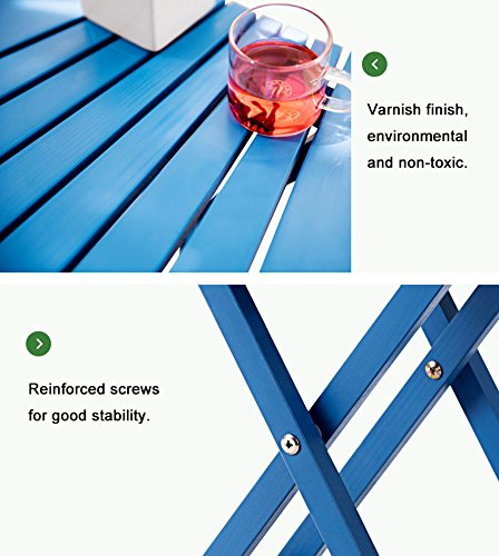 ZJM- Fan-Shaped Flower Shelf Foldable Flower Pot Rack (Color : Blue) by Flower stand (Image #5)