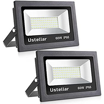 Ustellar 2 pack 60w led flood light ip66 waterproof 4800lm 300w ustellar 2 pack 60w led flood light ip66 waterproof 4800lm 300w halogen bulb aloadofball Image collections