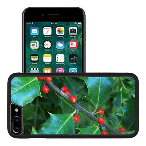 Liili Apple iPhone 7 plus iPhone 8 plus Aluminum Backplate Bumper Snap iphone7plus/8plus Case Macro of holly berry Nature compositoin Photo 9414295