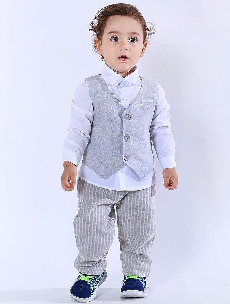 Vest and Pants Abolai Infant Baby Kid Boy 3 Piece Vest Set Formal Wear Shirt