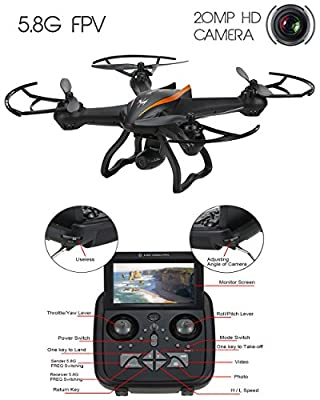 DroneMaster Drone with 720 p HD Camera Super Wide Angle 500M Range 4CH - 6 Axis Gyro RealTime Video Supported Cx35