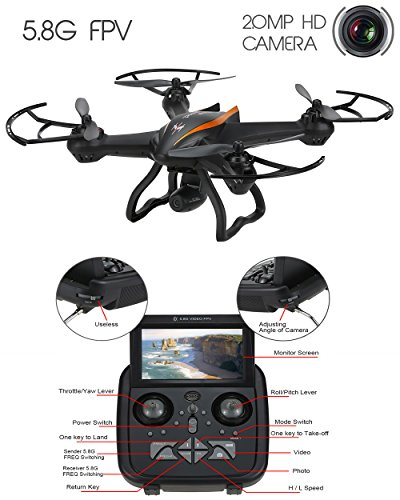 DroneMaster-Drone-with-720-p-HD-Camera-Super-Wide-Angle-500M-Range-4CH-6-Axis-Gyro-RealTime-Video-Supported-Cx35