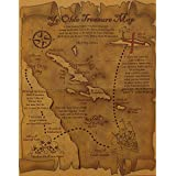 Pirate Treasure Map Great for Pirate Costumes, Plays and Birthday Party Favors