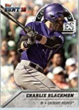 2016 Topps Bunt #130 Charlie Blackmon Colorado Rockies Baseball Card in Protective Screwdown Display Case