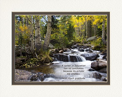 (Teacher Retirement Gift or Teacher Appreciation Gift or Award. River in Autumn Photo, with