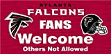 Atlanta Falcons Wood Sign - Fans Welcome 12''x6''