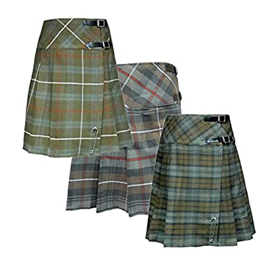 Tartanista Womens 20 Inch Weathered Tartan Kilt Skirt