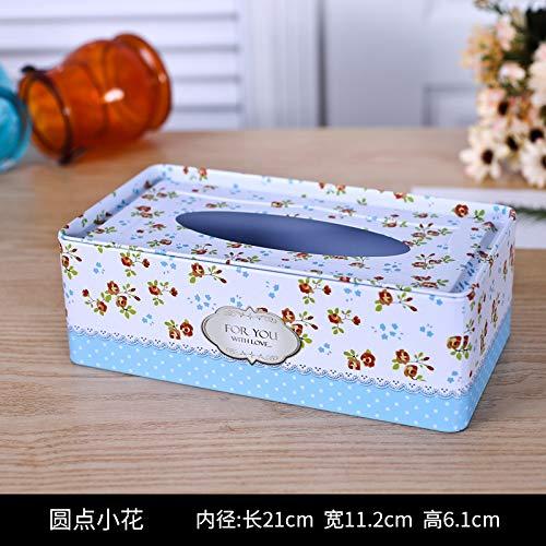 T-ZJHC Sanitary Tissue Box roll Paper Home Living Room Restaurant European Restaurant Facial Tissue Paper Box, Long dot Flower