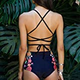Women Bikini Set,Jushye Ladies Swimwear Push Up Padded Geometric Print Bra Swimsuit Beachwear Two Piece Bikini Set (L, Blue)