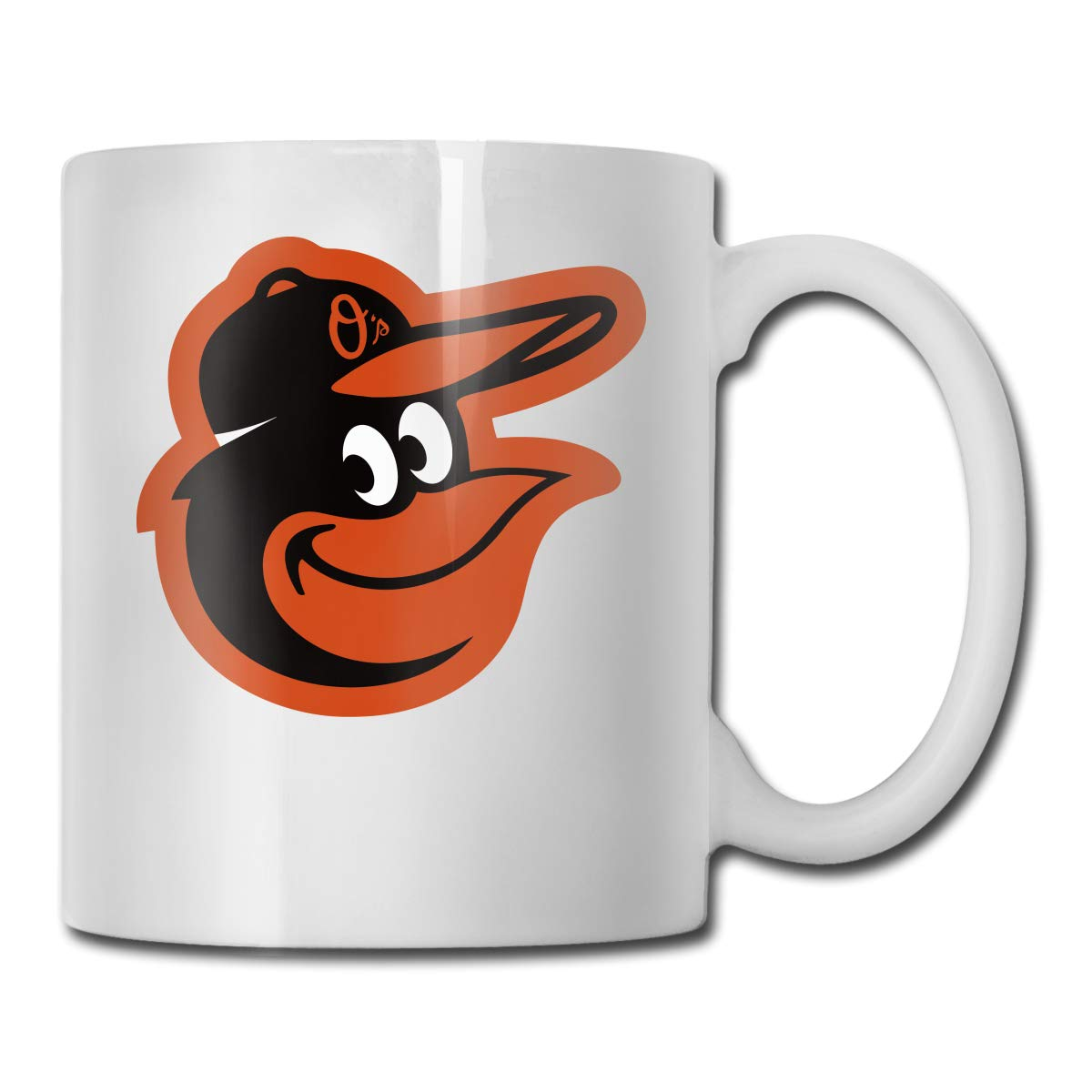 Office Coffee Cup BaltimoreOriolesCap Geblackus 14.72 OZ Capacity Mug is Perfect for CoffeeWhite