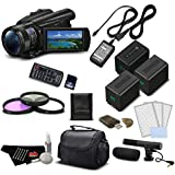 Sony FDR-AX700 4K HDR Camcorder w/3.5 Inch LCD (FDR-AX700/B) Professional Bundle - International Version (No Warranty)