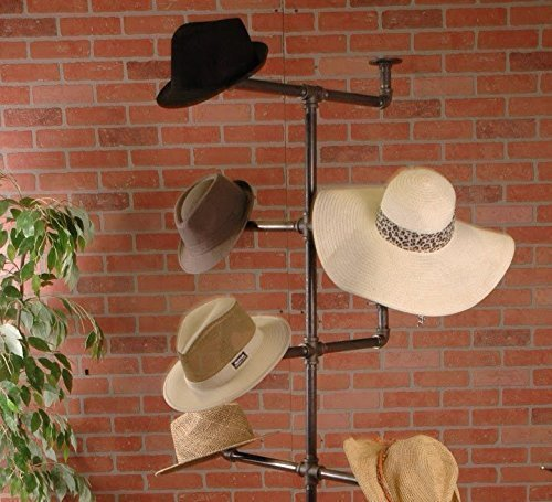 Industrial Pipe Hat Rack Display Stand by William Roberts Vintage