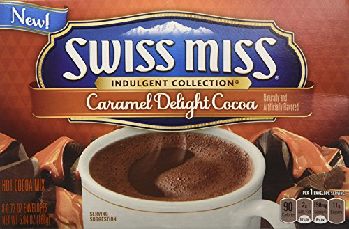 Delight Collection (Swiss Miss, Hot Cocoa Mix, Indulgent Collection, Caramel Delight, 8 Count, 5.84oz Box (Pack of 3))