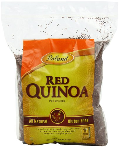 Roland Red Quinoa, Prewashed, 5-Pound Bags (Pack of 2) by Roland