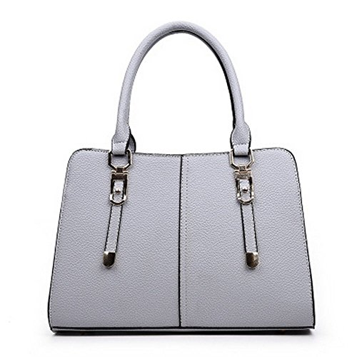 Eysee - Bolso de tela de poliuretano para mujer gris