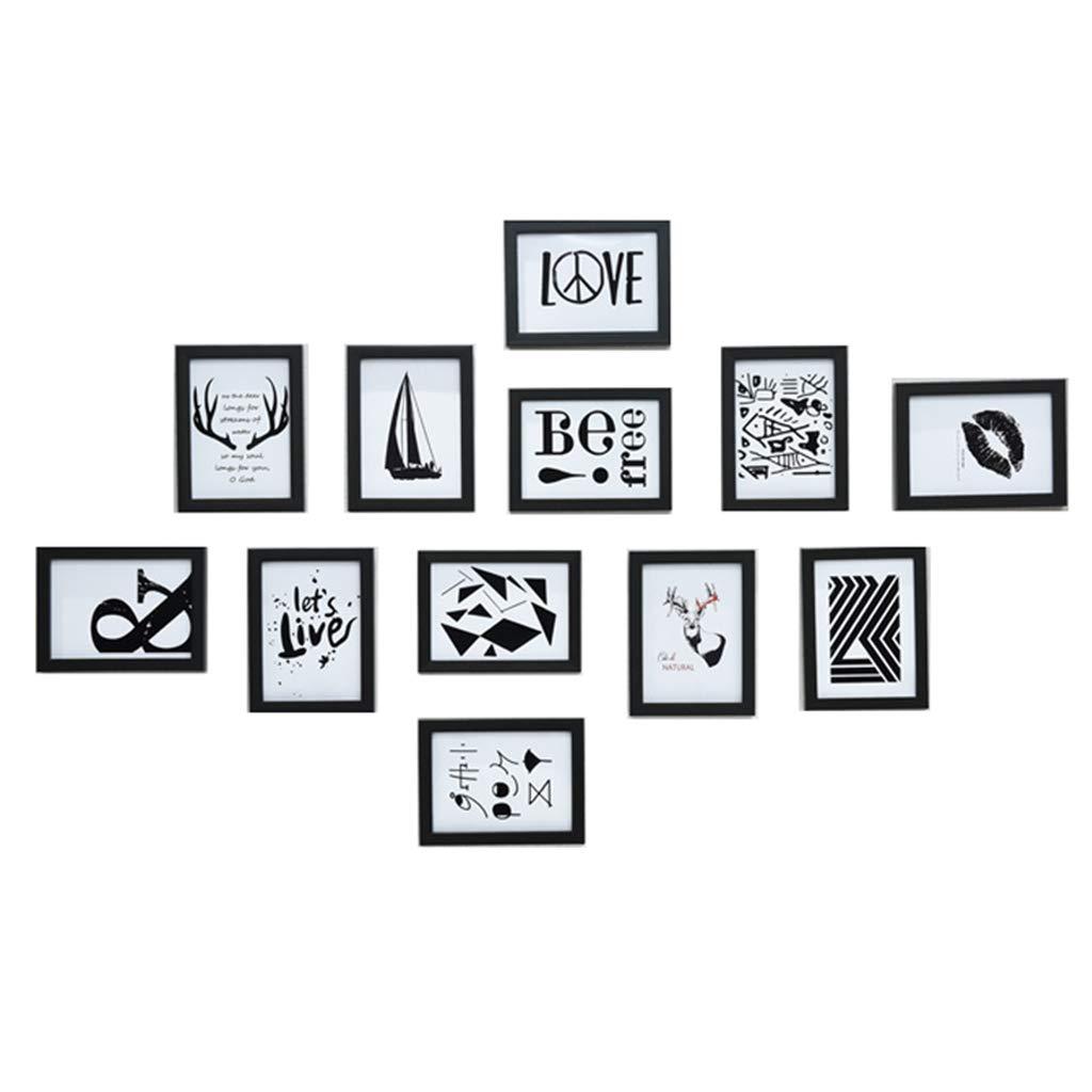 Unbekannt Fotowand Einfache Moderne Fotowand Fotorahmen Wand Wohnzimmer Fotorahmen Wand Kombination Fotowand 7 Zoll (Color : White)