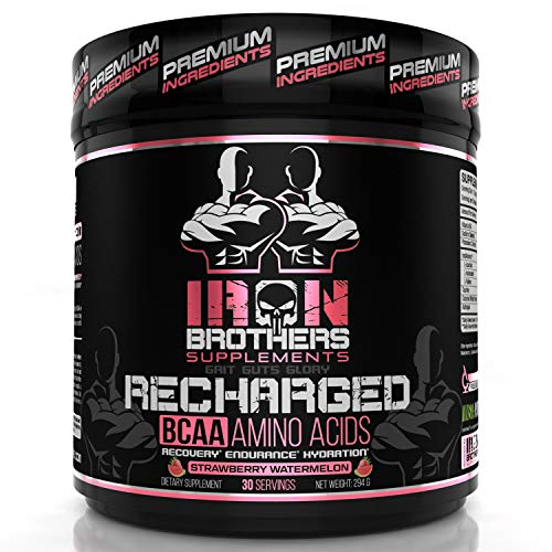 BCAA Powder Supplement – Best Intra Workout Formula – Amino Acids for Hydration – Strawberry Watermelon Vegan Instaminos – All Natural Fermented – Non-GMO – Gluten-Free – Ideal 2:1:1 Ratio