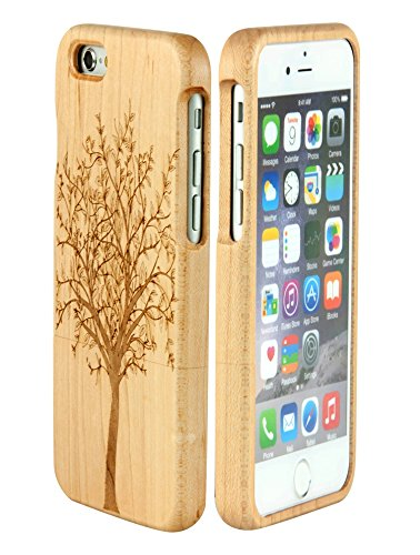 71 opinioni per eimo Mano autentico legno naturale legno Caso case shell skin per iPhone 6