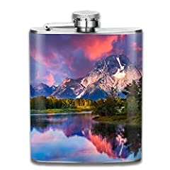 The Flagon Is Made From Stainless Steel.It Is Easy To Carry In Your Pocket Everywhere. The Screw Down Cap On Top Of The Flagon Is Connected With The Body So That It Won't Be Lost When You Open The Flagon. It Is A Special Gift For Those Who Lo...
